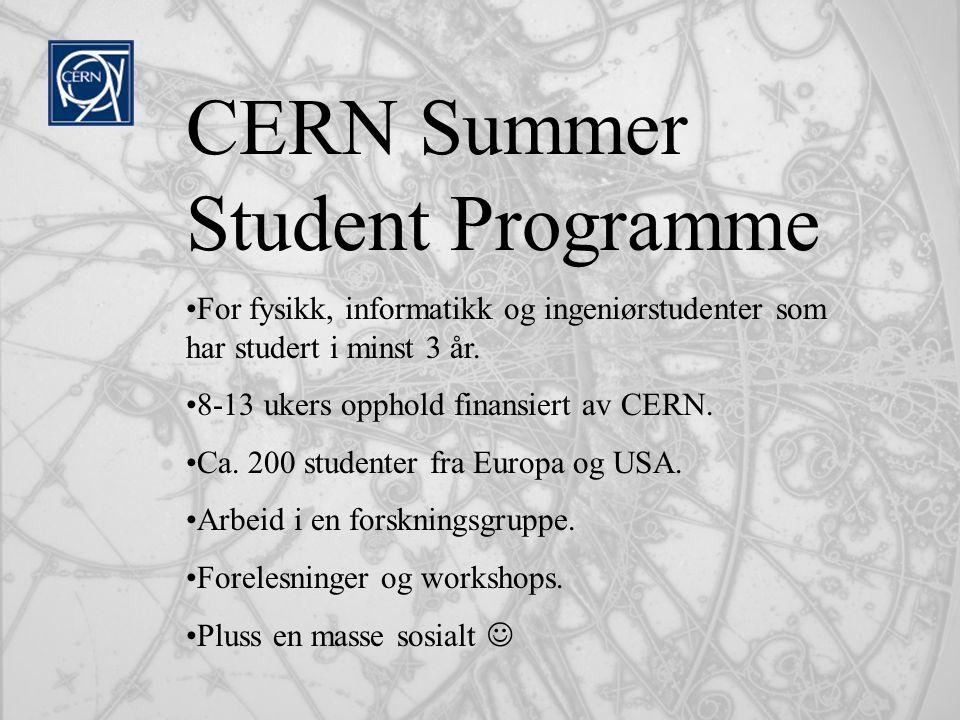CERN Summer Student Programme