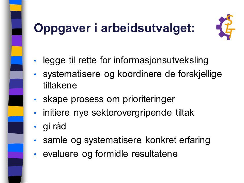 Oppgaver i arbeidsutvalget: