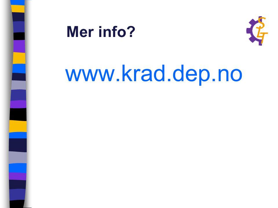 Mer info www.krad.dep.no