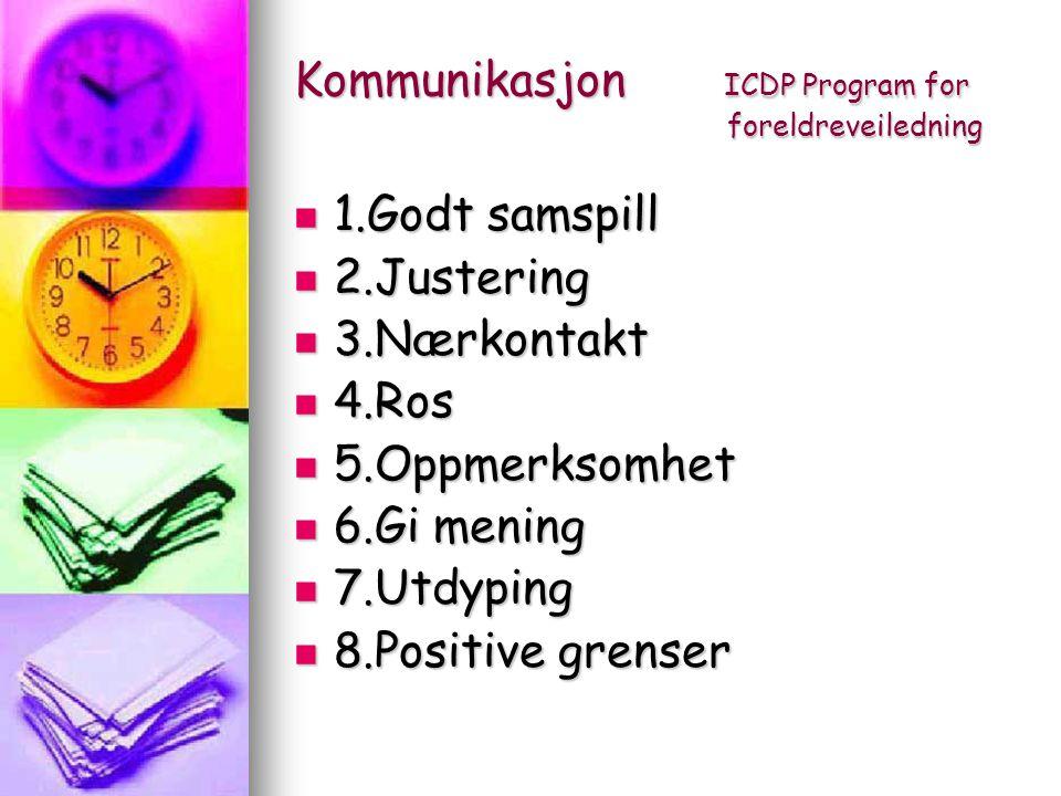 Kommunikasjon ICDP Program for foreldreveiledning