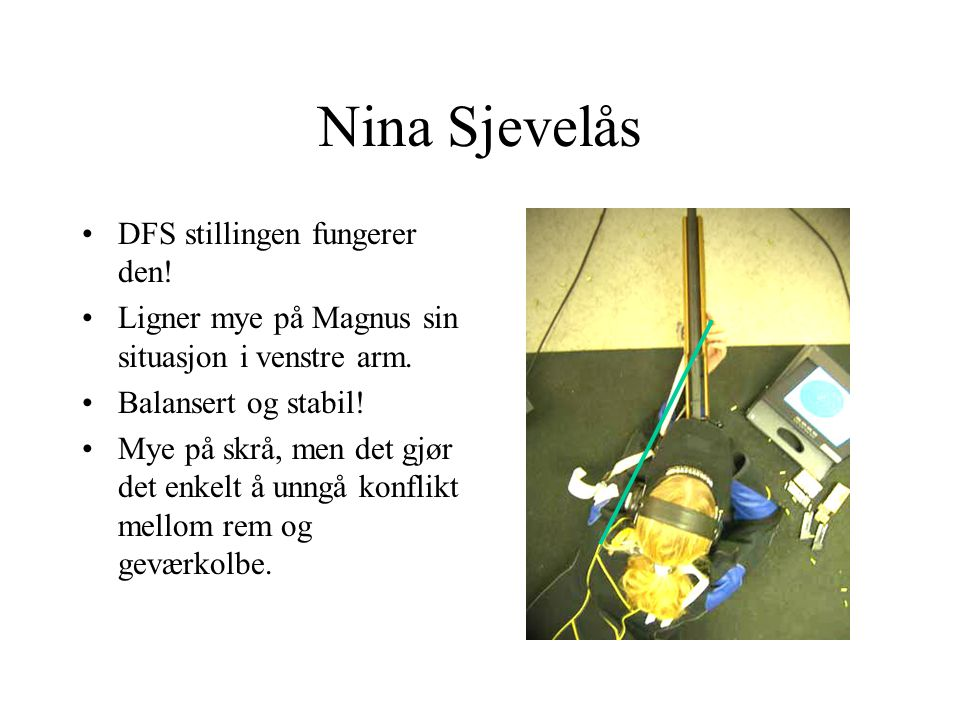 Nina Sjevelås DFS stillingen fungerer den!