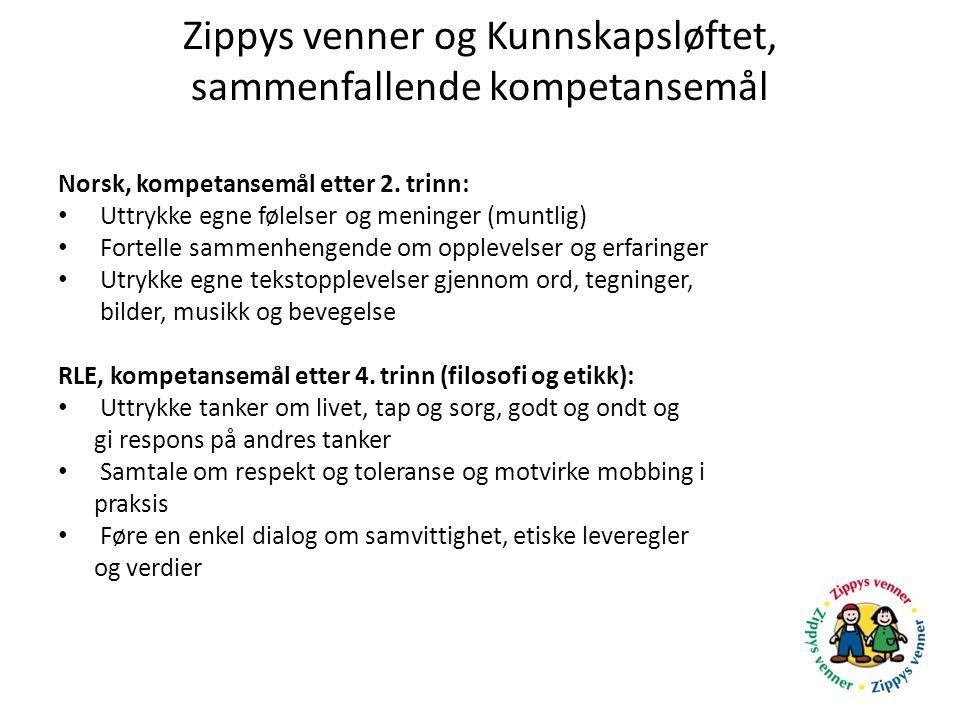 Zippys venner og Kunnskapsløftet, sammenfallende kompetansemål