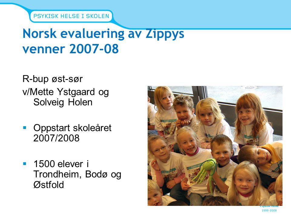 Norsk evaluering av Zippys venner 2007-08