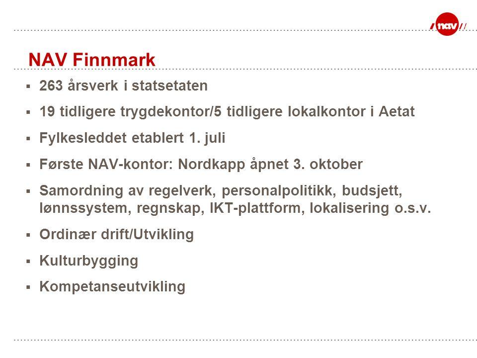 NAV Finnmark 263 årsverk i statsetaten
