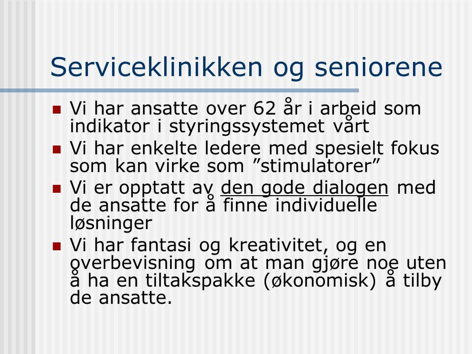 Serviceklinikken og seniorene