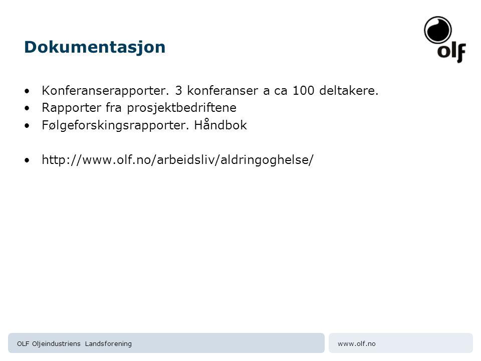 Dokumentasjon Konferanserapporter. 3 konferanser a ca 100 deltakere.