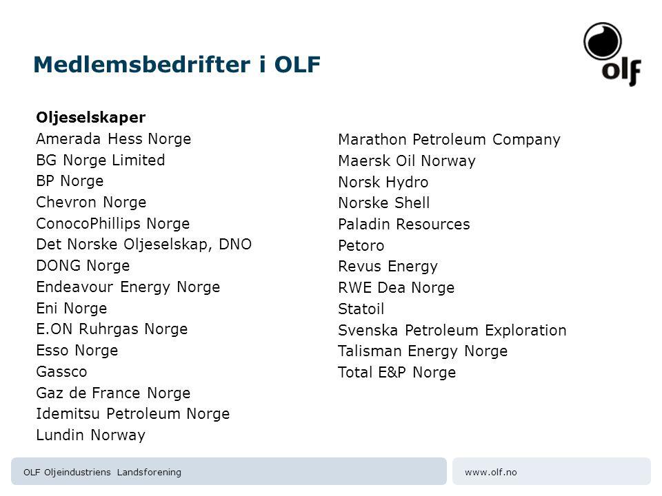 Medlemsbedrifter i OLF