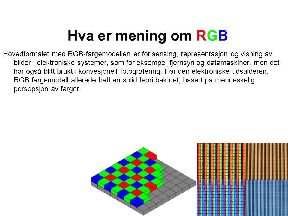 Hva er mening om RGB
