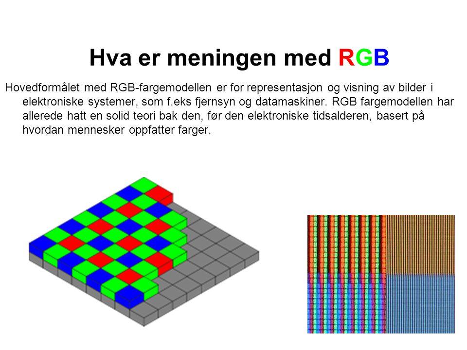 Hva er meningen med RGB