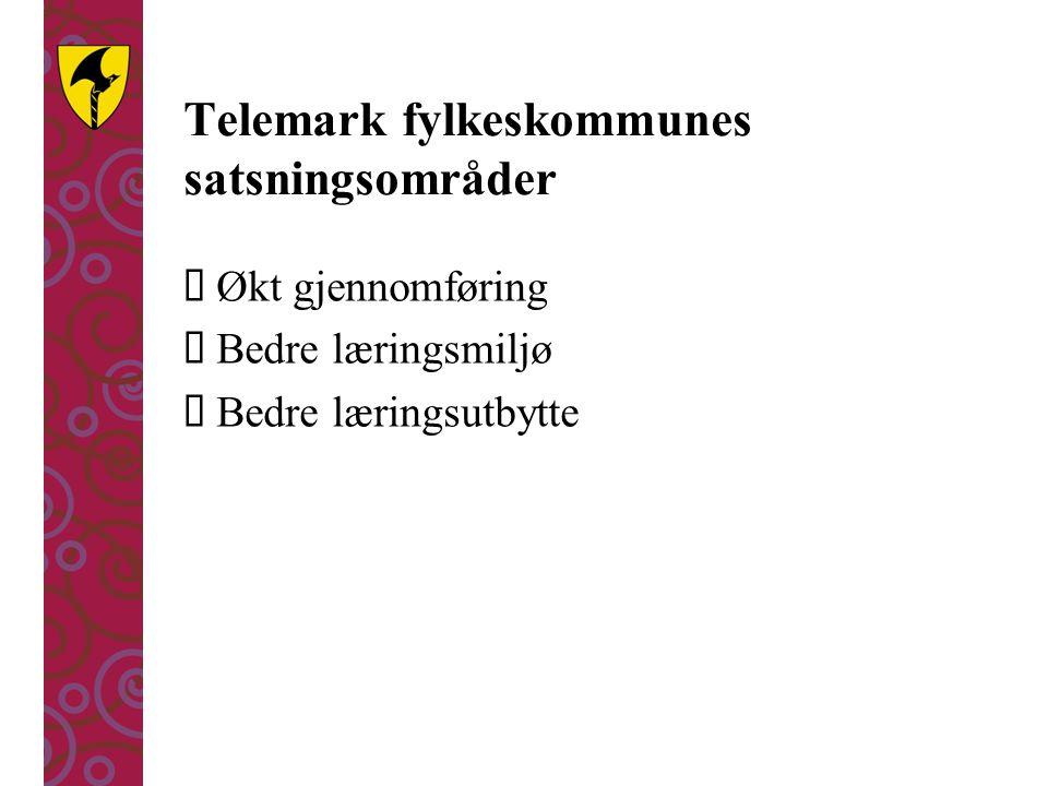 Telemark fylkeskommunes satsningsområder