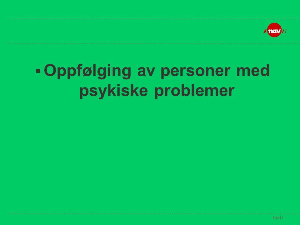 Oppfølging av personer med psykiske problemer