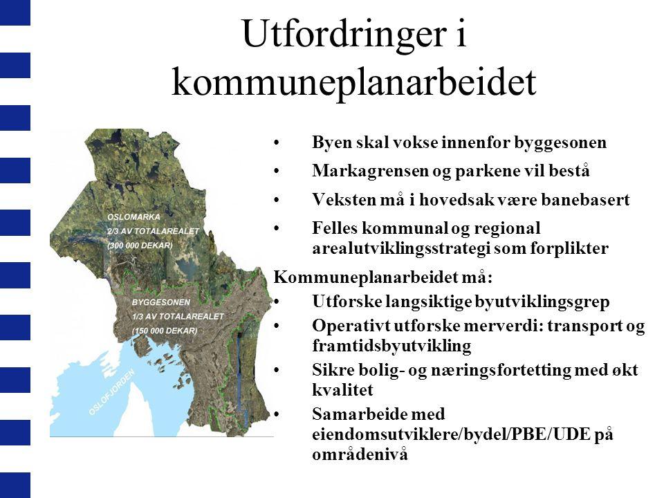 Utfordringer i kommuneplanarbeidet
