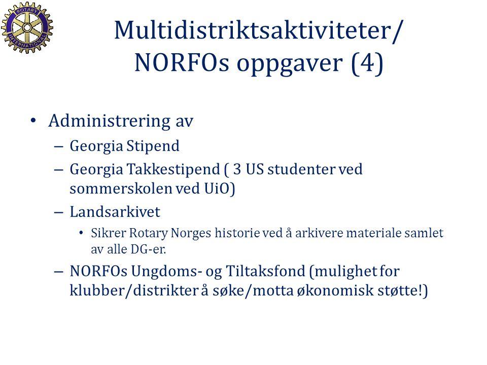 Multidistriktsaktiviteter/ NORFOs oppgaver (4)