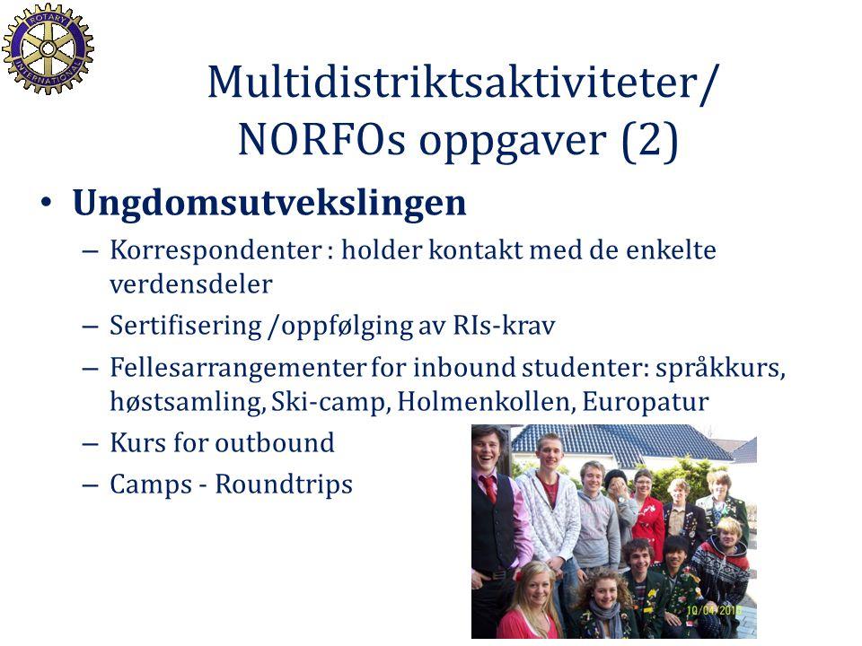 Multidistriktsaktiviteter/ NORFOs oppgaver (2)