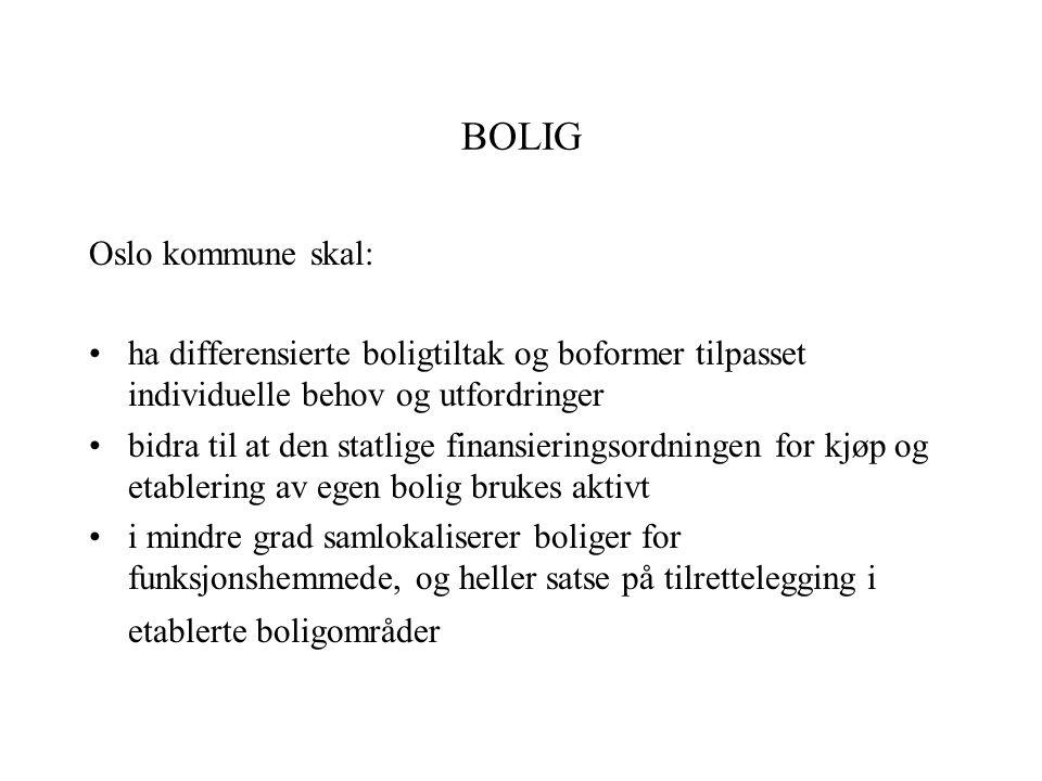 BOLIG Oslo kommune skal: