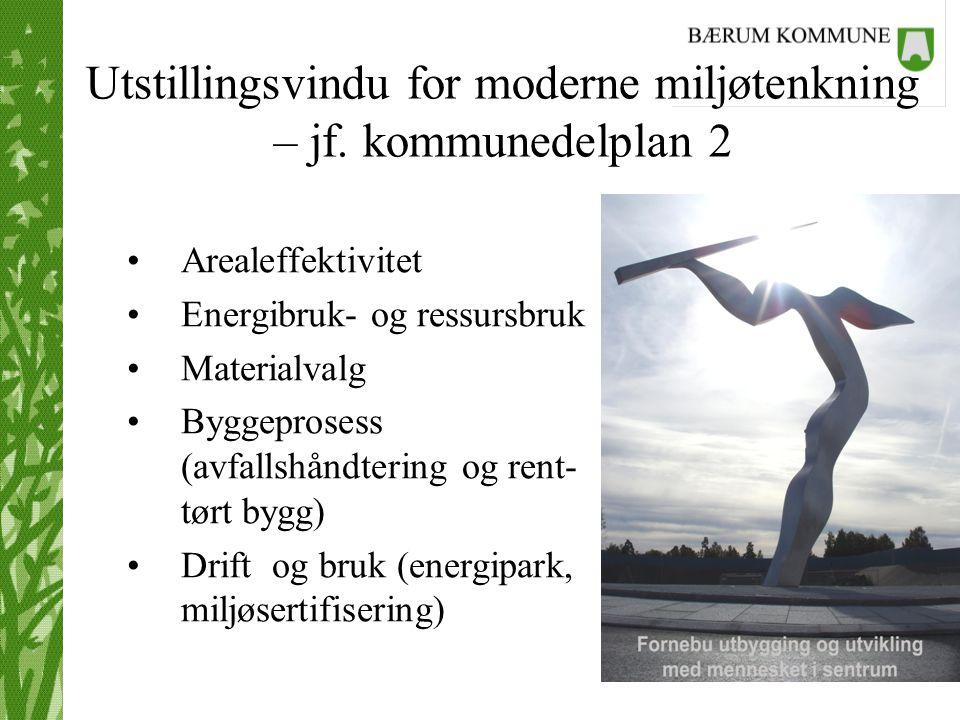 Utstillingsvindu for moderne miljøtenkning – jf. kommunedelplan 2