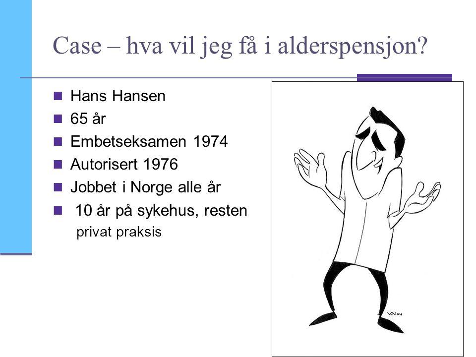 Case – hva vil jeg få i alderspensjon