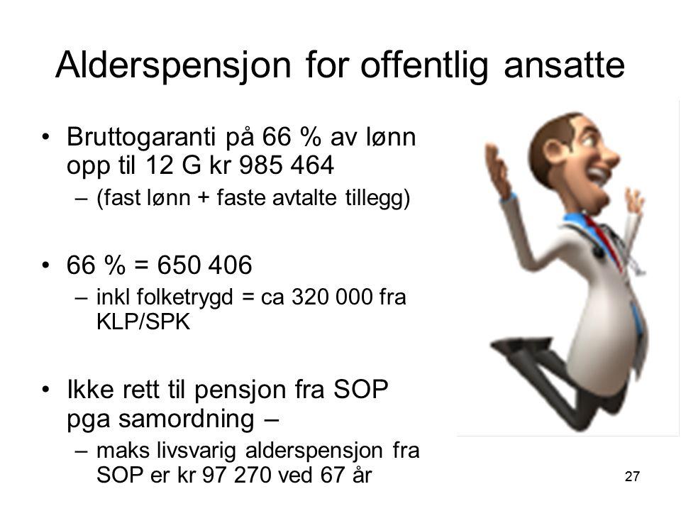 Alderspensjon for offentlig ansatte