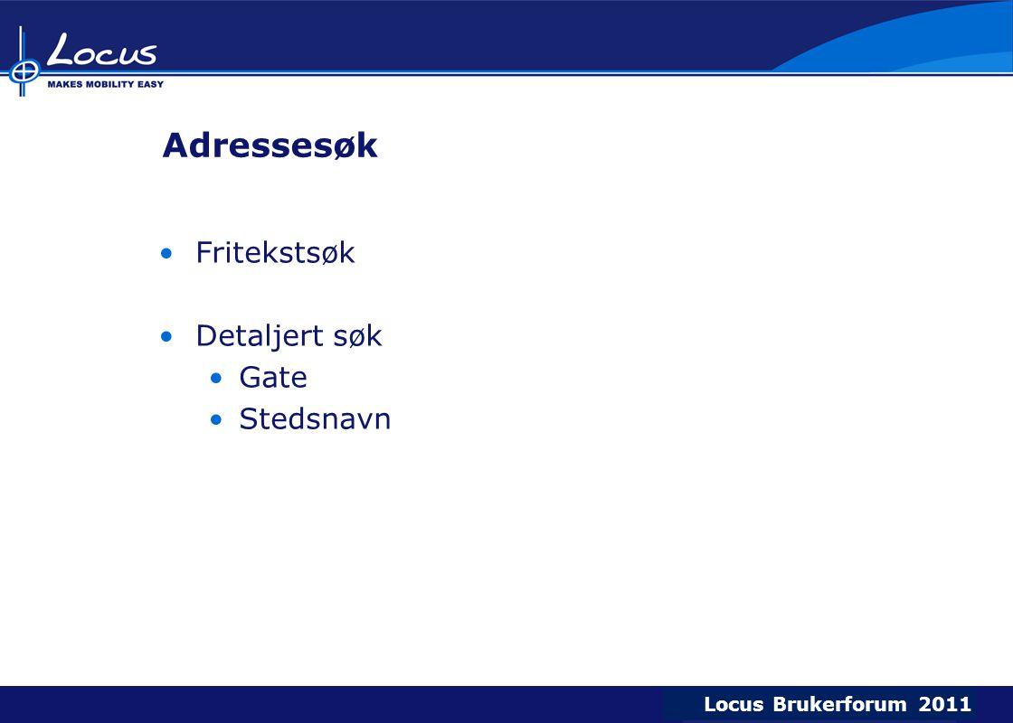 Adressesøk Fritekstsøk Detaljert søk Gate Stedsnavn