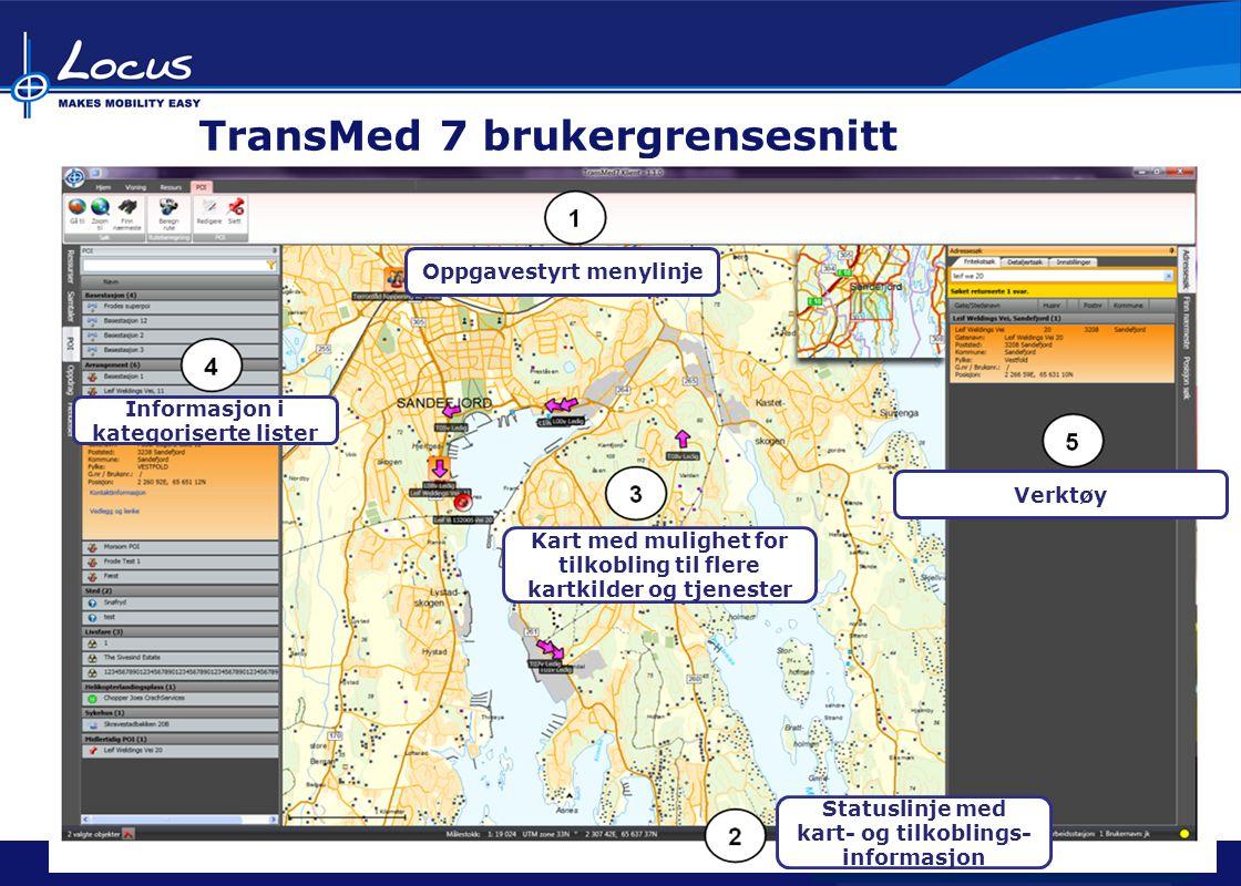 TransMed 7 brukergrensesnitt