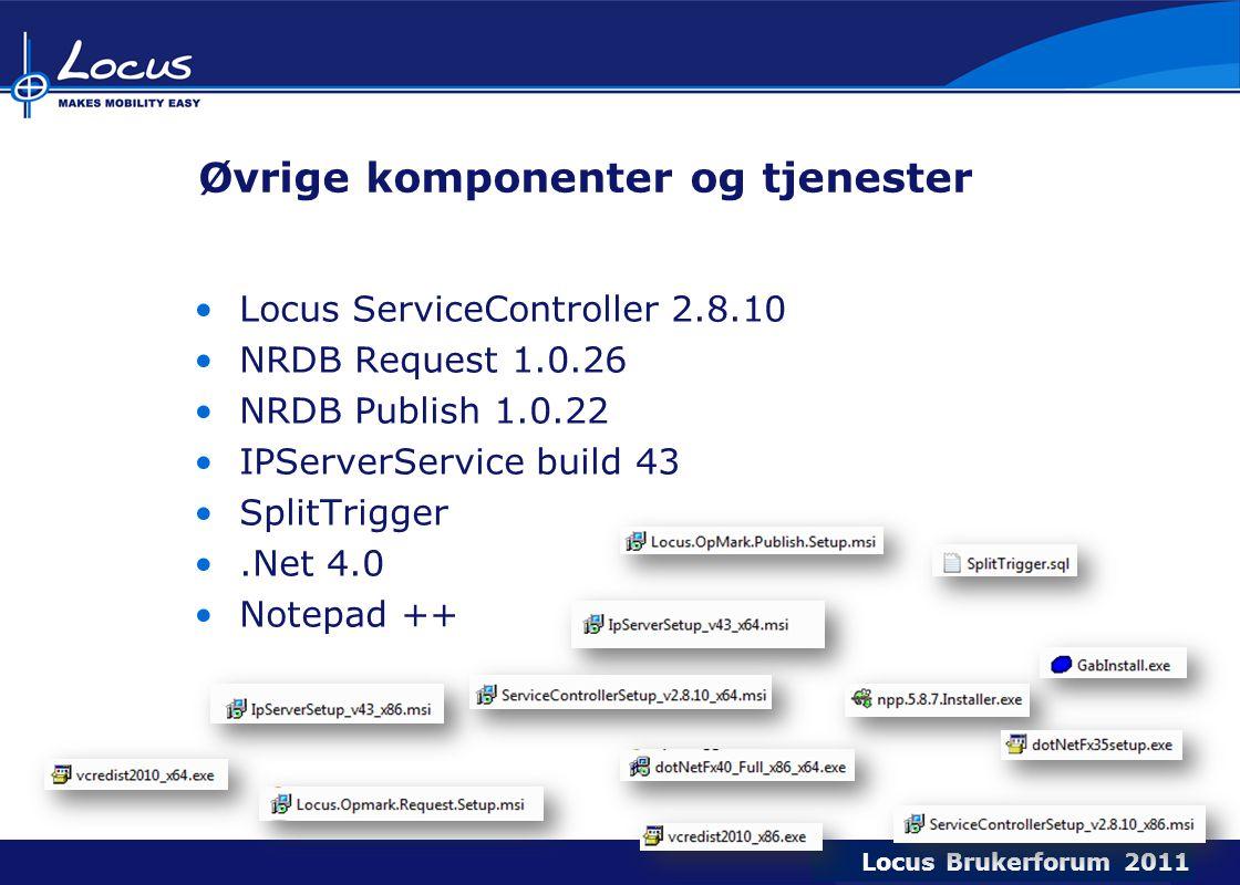 Øvrige komponenter og tjenester
