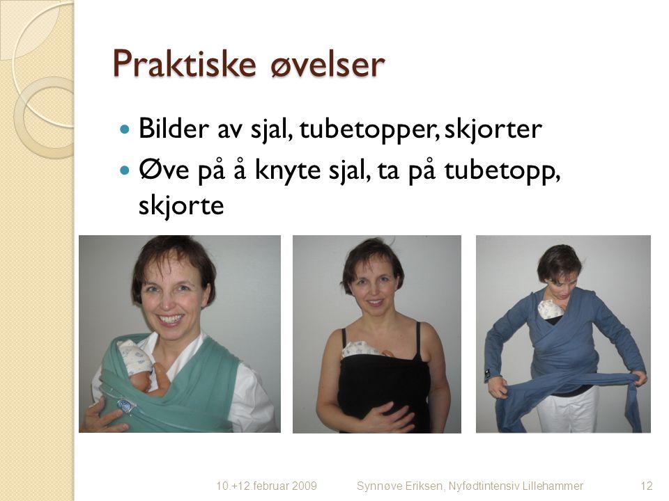 Praktiske øvelser Bilder av sjal, tubetopper, skjorter
