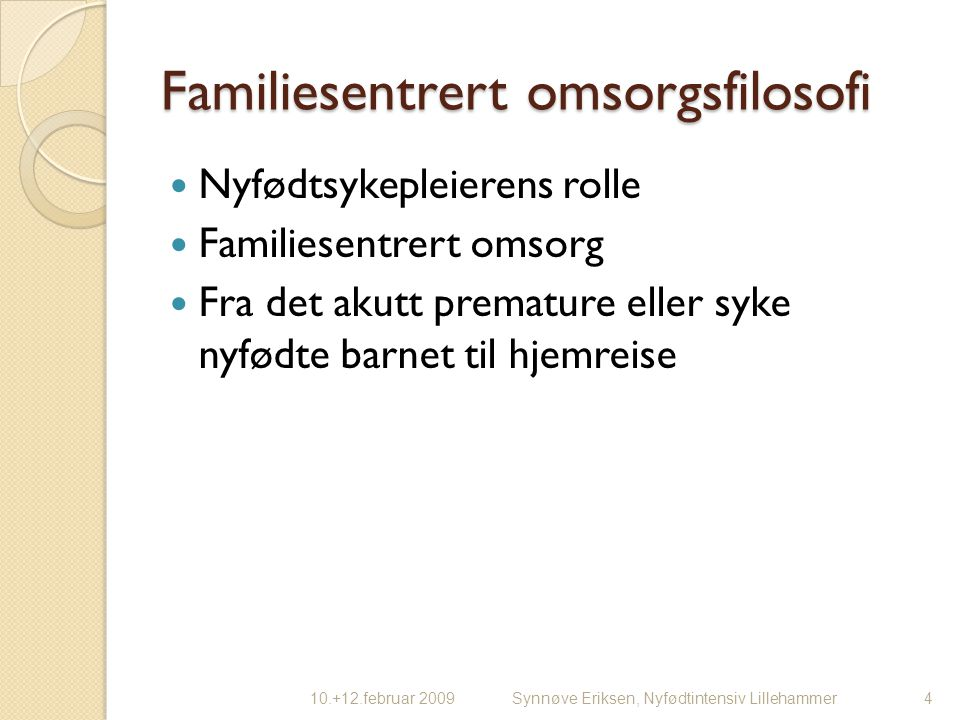Familiesentrert omsorgsfilosofi