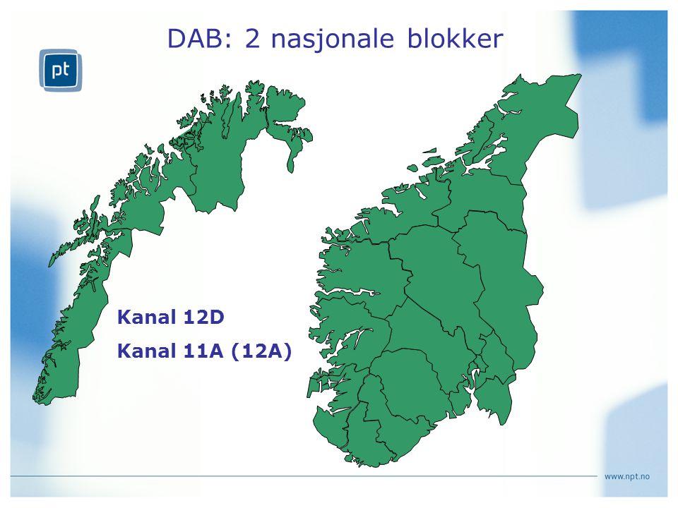 DAB: 2 nasjonale blokker