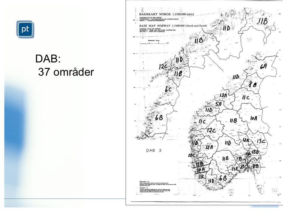 DAB: 37 områder