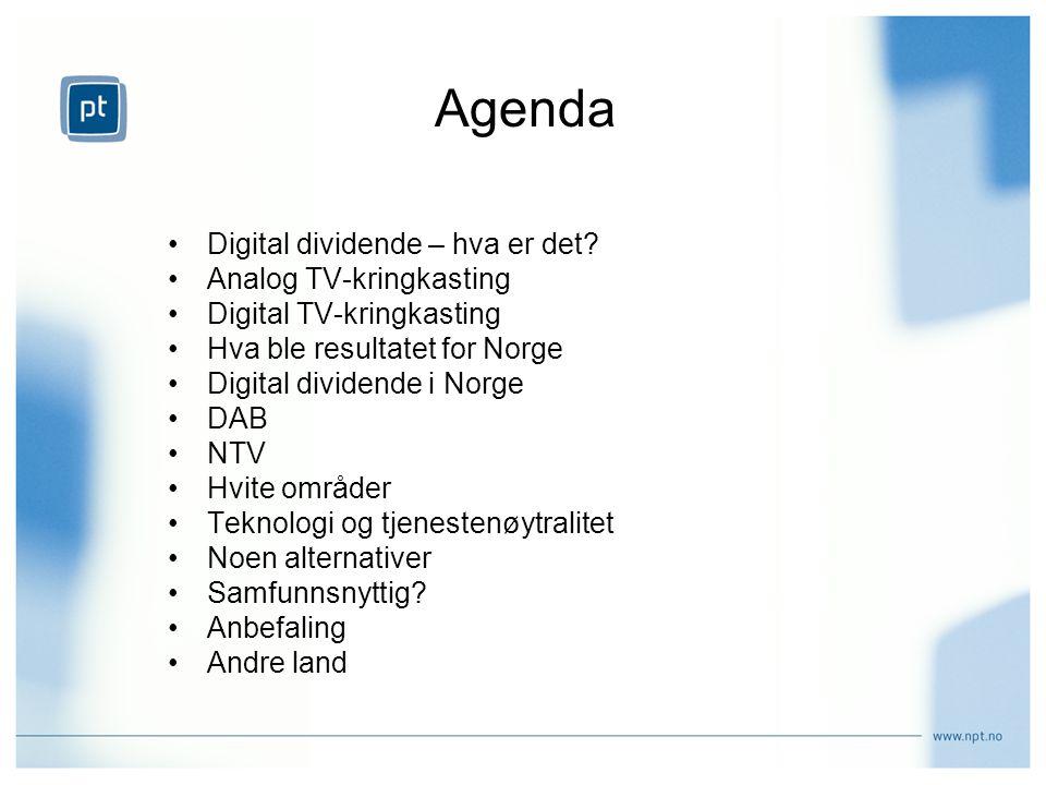 Agenda Digital dividende – hva er det Analog TV-kringkasting