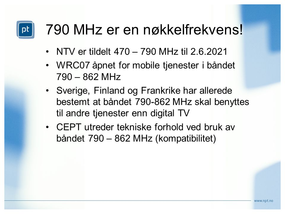 790 MHz er en nøkkelfrekvens!