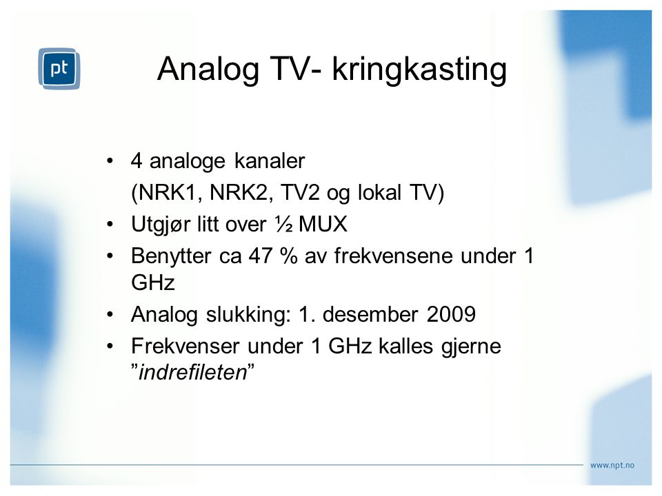 Analog TV- kringkasting