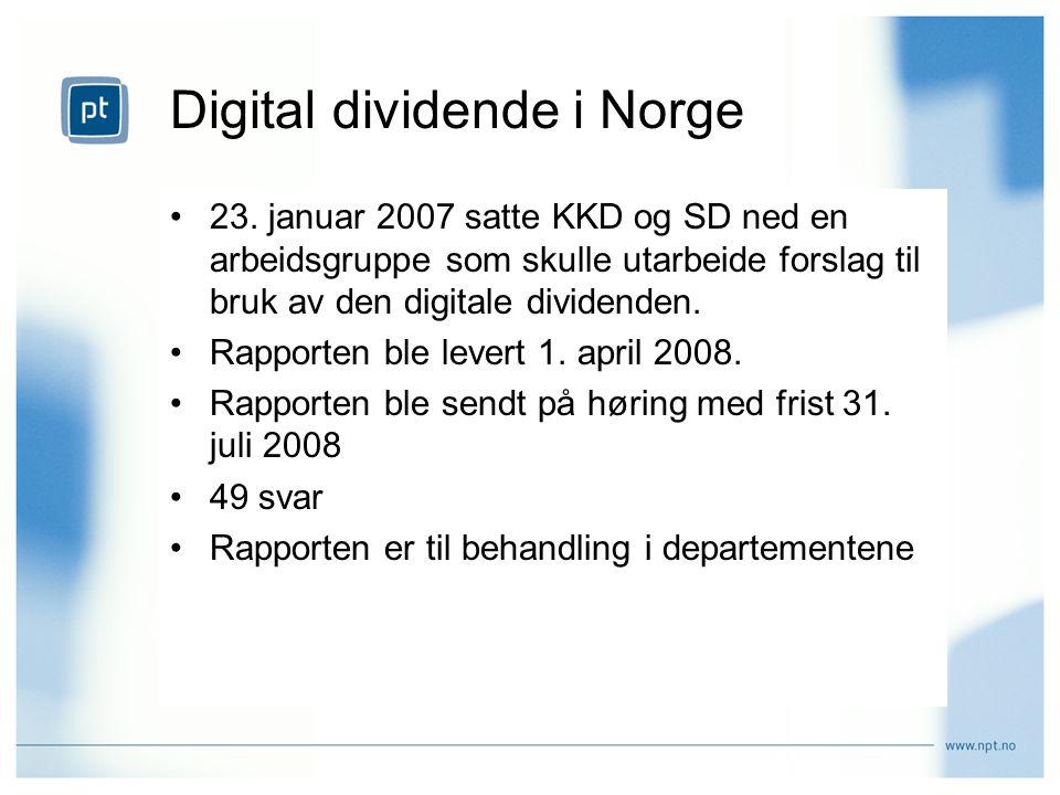 Digital dividende i Norge