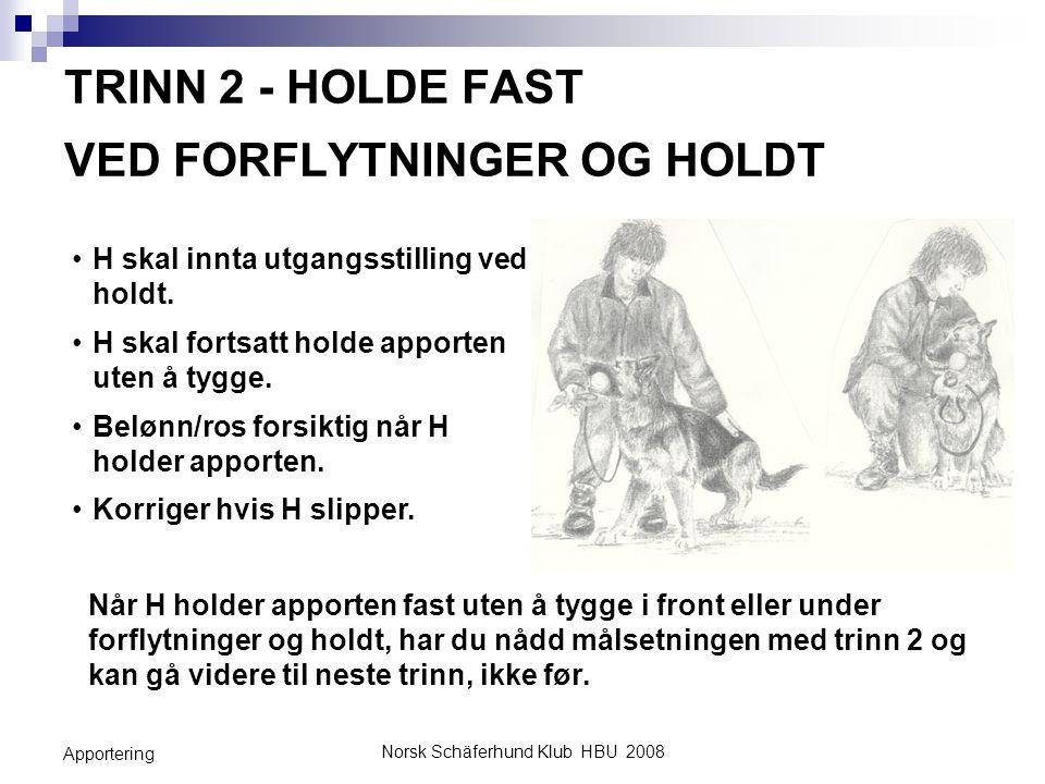 TRINN 2 - HOLDE FAST VED FORFLYTNINGER OG HOLDT