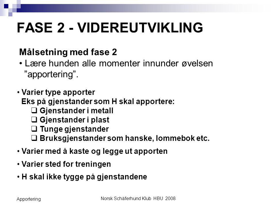 FASE 2 - VIDEREUTVIKLING