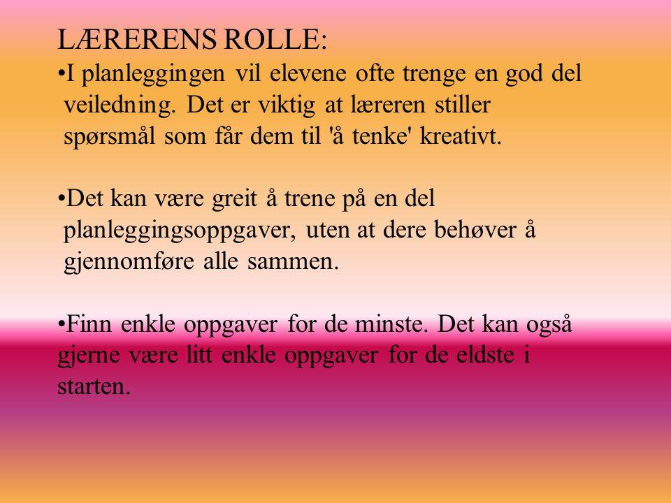 LÆRERENS ROLLE: