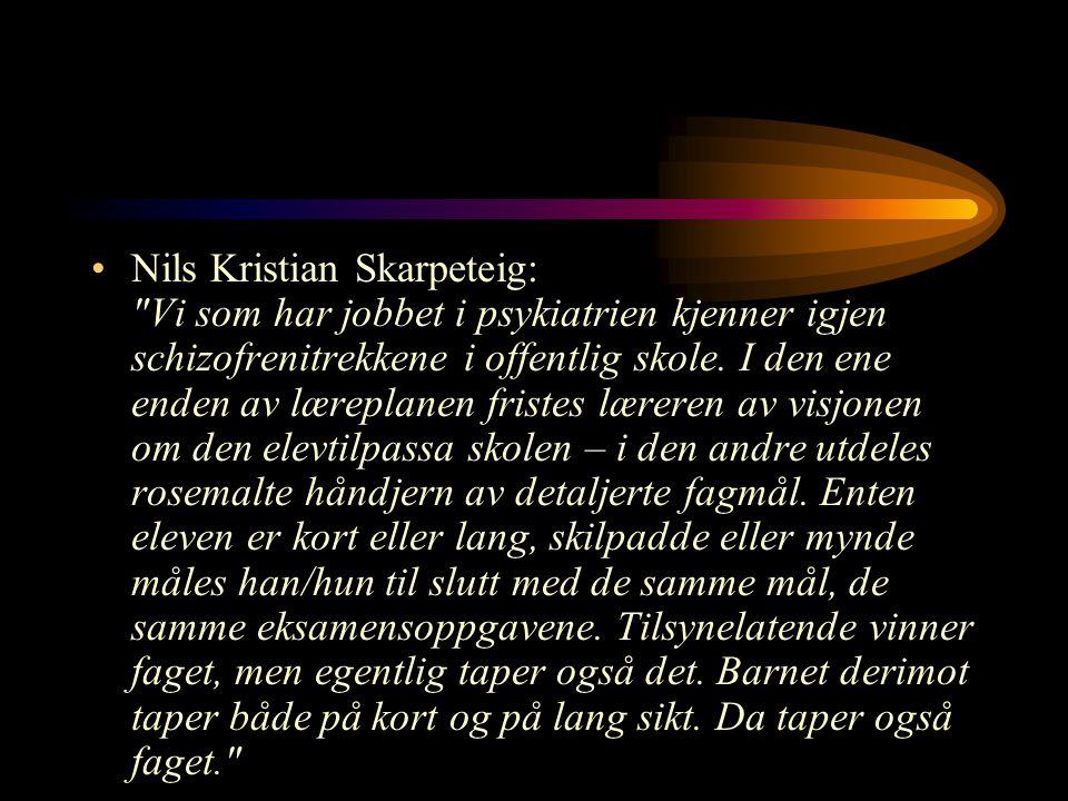 Nils Kristian Skarpeteig: Vi som har jobbet i psykiatrien kjenner igjen schizofrenitrekkene i offentlig skole.