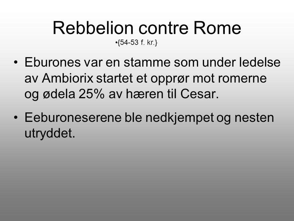 Rebbelion contre Rome {54-53 f. kr.}