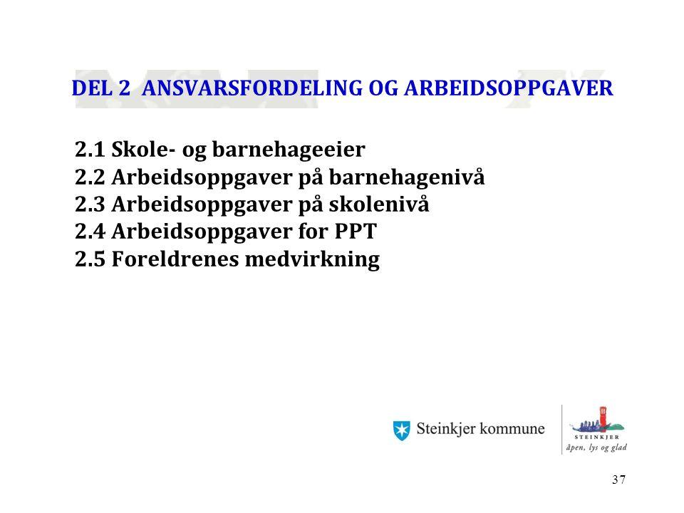 DEL 2 ANSVARSFORDELING OG ARBEIDSOPPGAVER