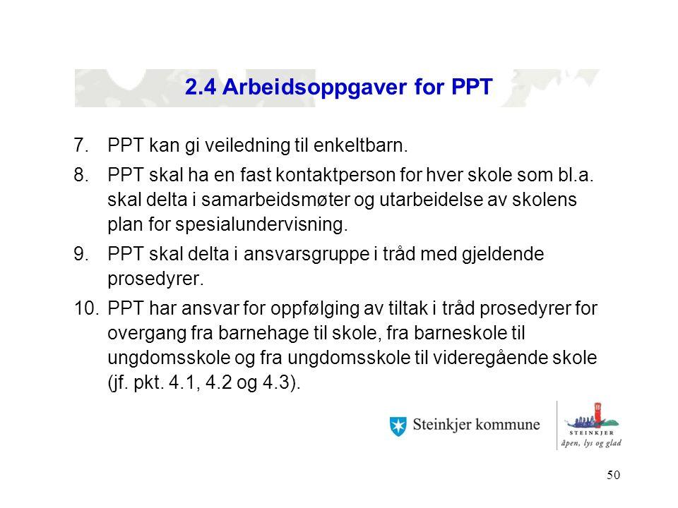 2.4 Arbeidsoppgaver for PPT