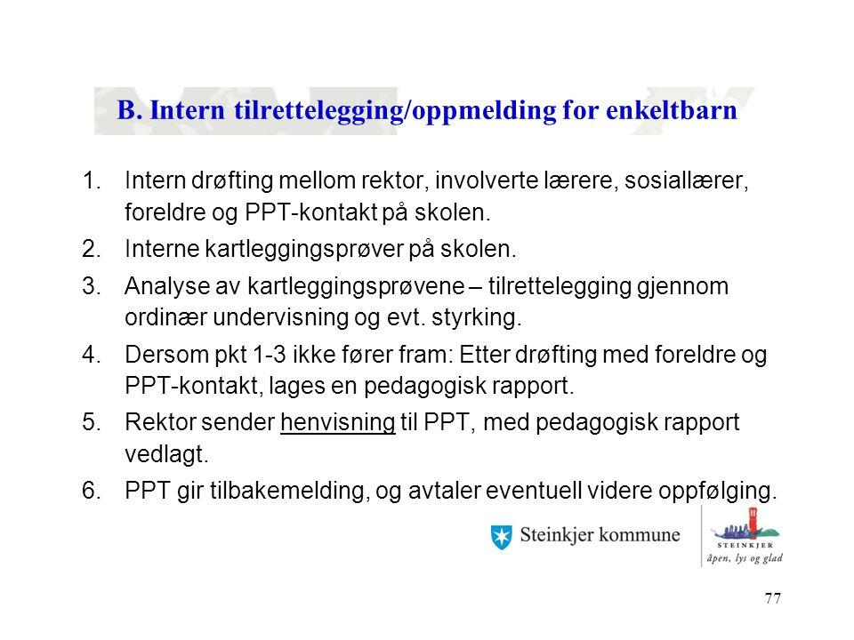pedagogisk rapport mål
