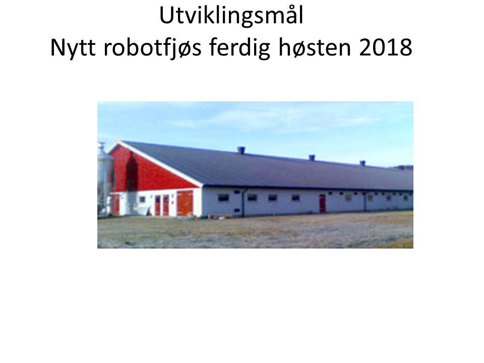 Utviklingsmål Nytt robotfjøs ferdig høsten 2018