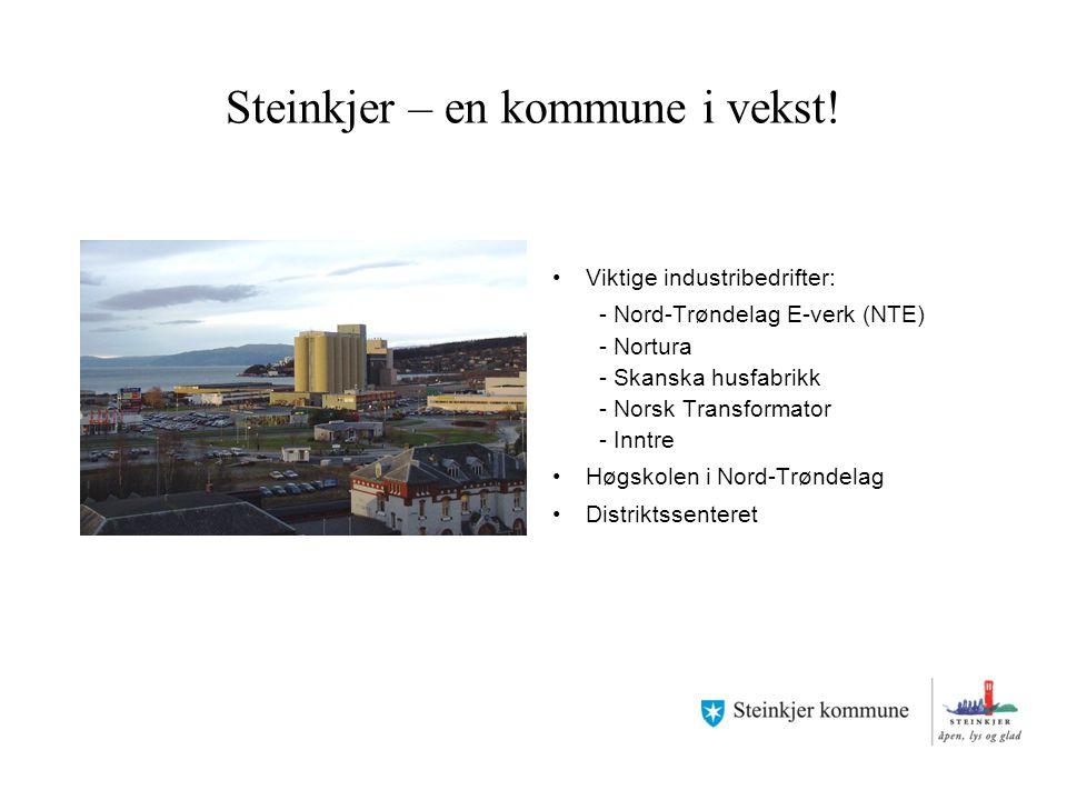 Steinkjer – en kommune i vekst!