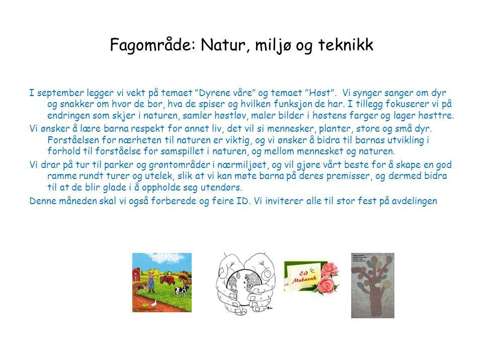 Fagområde: Natur, miljø og teknikk