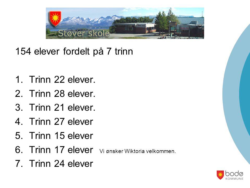 154 elever fordelt på 7 trinn