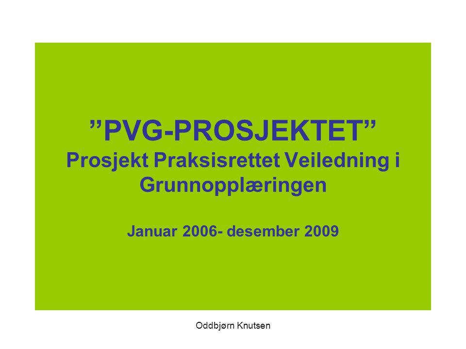 PVG-PROSJEKTET Prosjekt Praksisrettet Veiledning i Grunnopplæringen Januar 2006- desember 2009