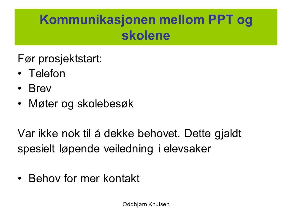 Kommunikasjonen mellom PPT og skolene