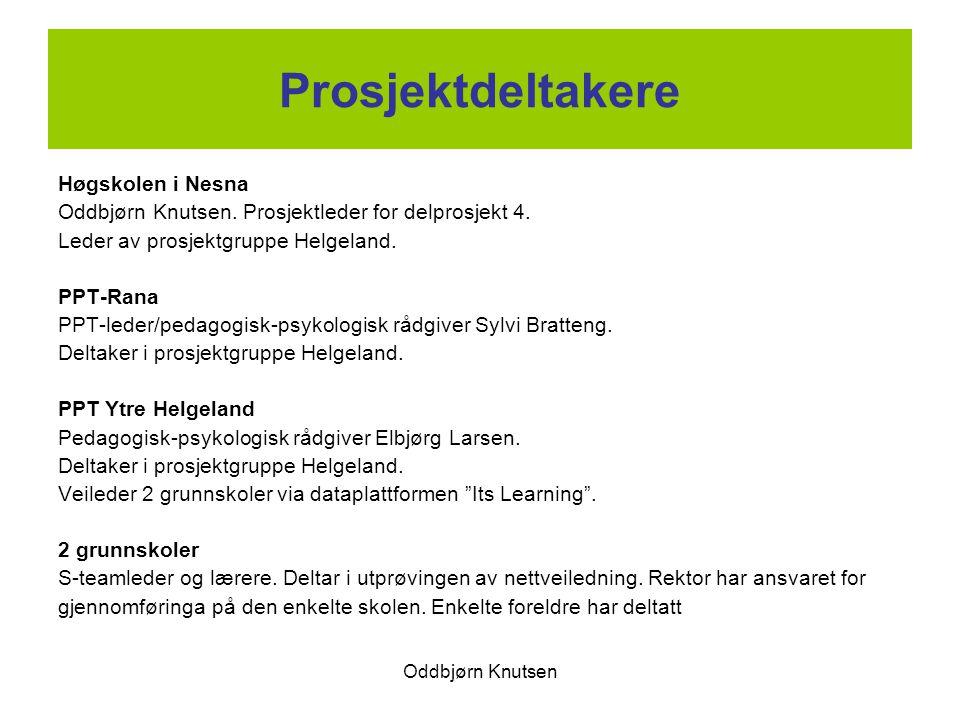 Prosjektdeltakere Høgskolen i Nesna
