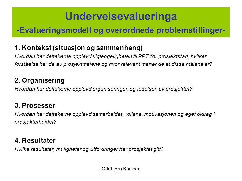 Underveisevalueringa -Evalueringsmodell og overordnede problemstillinger-