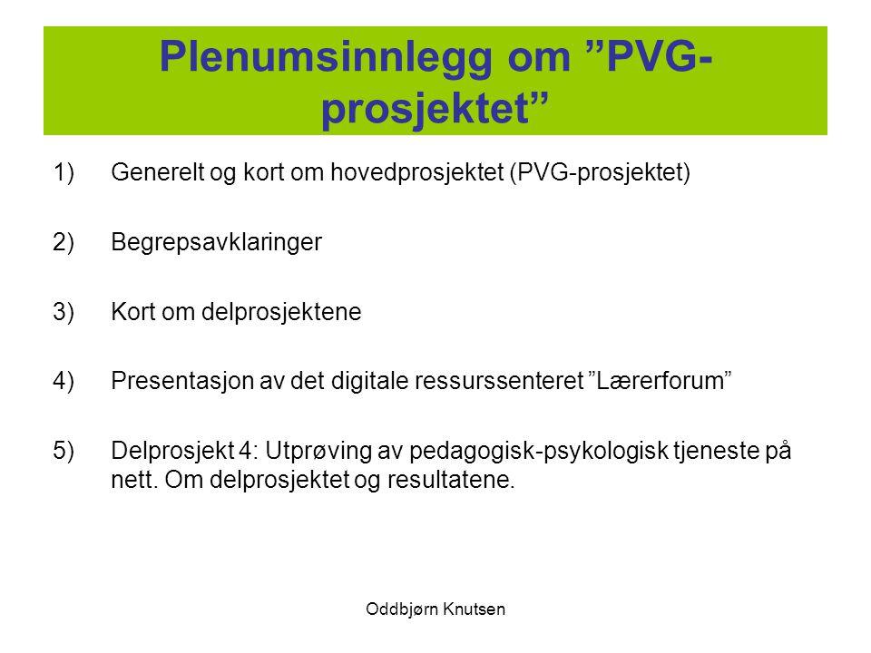 Plenumsinnlegg om PVG-prosjektet